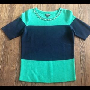 Talbots color block wool sweater